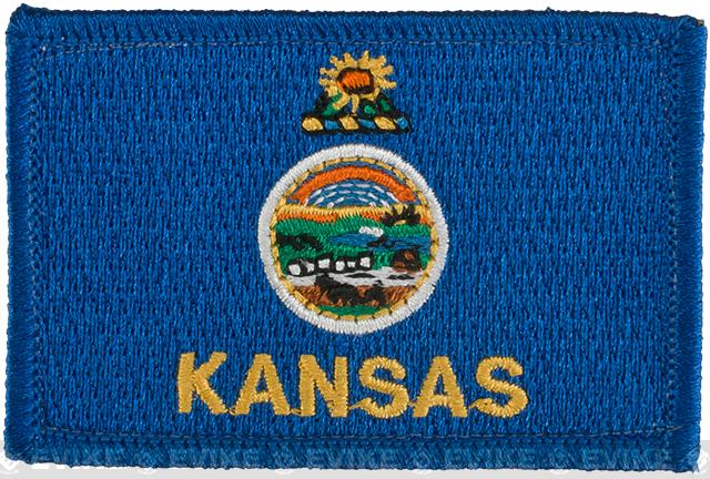 Evike.com Tactical Embroidered Kansas Flag The Sunflower State Patch