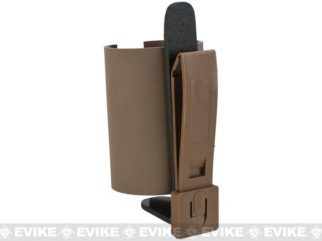 KAOS Concealment Custom Kydex Airsoft Grenade Holster - Dark Earth