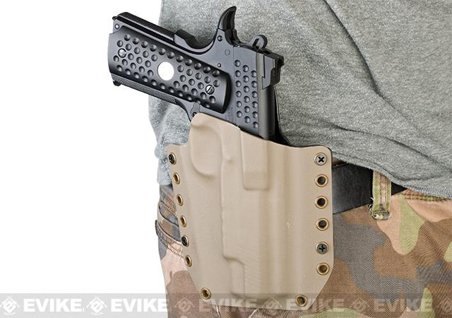 KAOS Concealment Belt / MOLLE Kydex Holster for Glock 26 (Left / Black)