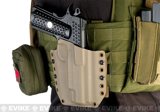 KAOS Concealment Kydex Belt / MOLLE Holster - WE TM KWA 1911 (Right / Dark Earth)