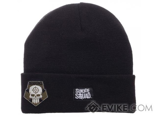 Suicide Squad Task Force X Cuff Billed Beanie - Black
