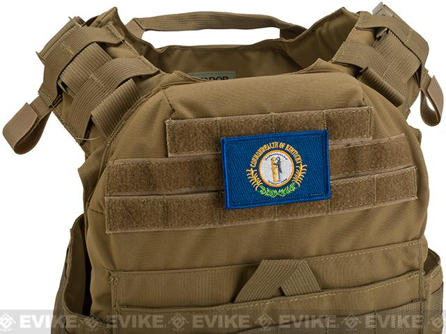Evike.com Tactical Embroidered Flag Patch (State: Kentucky The Bluegrass State)