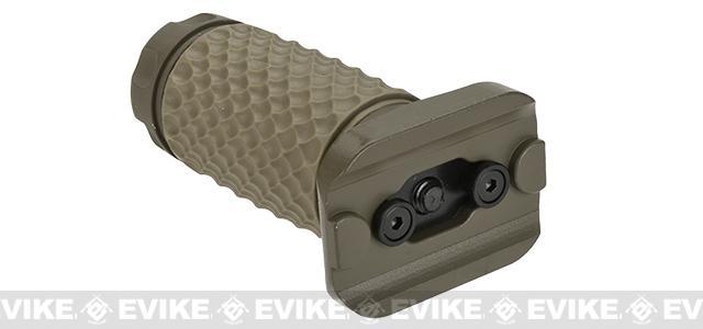 G&P Keymod Tactical Golf Ball Pattern Aluminum / Rubber Vertical Grip - Sand (Short)