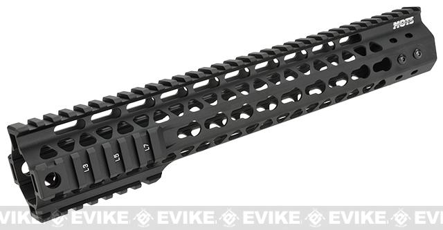 G&P MOTS 12.5 Keymod Rail System for M4 / M16 Series Airsoft Rifles - Black