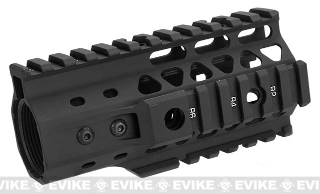 G&P MOTS 5 RAS Rail System for M4 / M16 Series Airsoft Rifles - Black