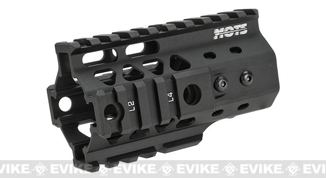 G&P MOTS 4 RAS Rail System for M4 / M16 Series Airsoft Rifles - Black