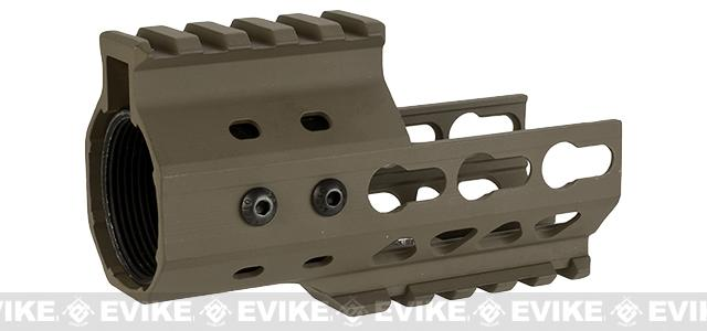 G&P MOTS 4 Keymod Cutout Rail System for M4 / M16 Series Airsoft Rifles - Sand