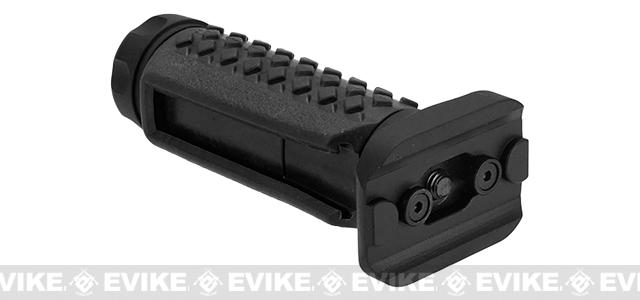 G&P Keymod Tactical Remote Switch Aluminum / Rubber Vertical Grip - Black (Long)