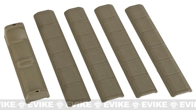 G&P Keymod Panel  Hand Stop w/ Soft Rubber Rail Covers - 5 Pack (Color: Sand)