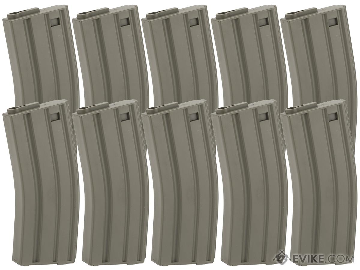 King Arms 120 Round Mid-Cap M4/M16 AEG Magazine (Color: OD Green / Box of 10)