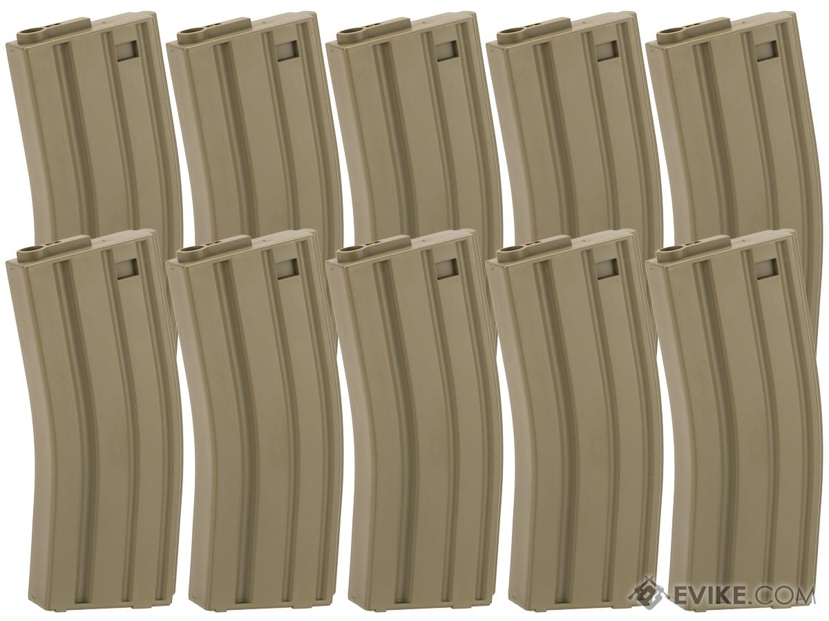King Arms 120 Round Mid-Cap M4/M16 AEG Magazine (Color: Desert / Box of 10)