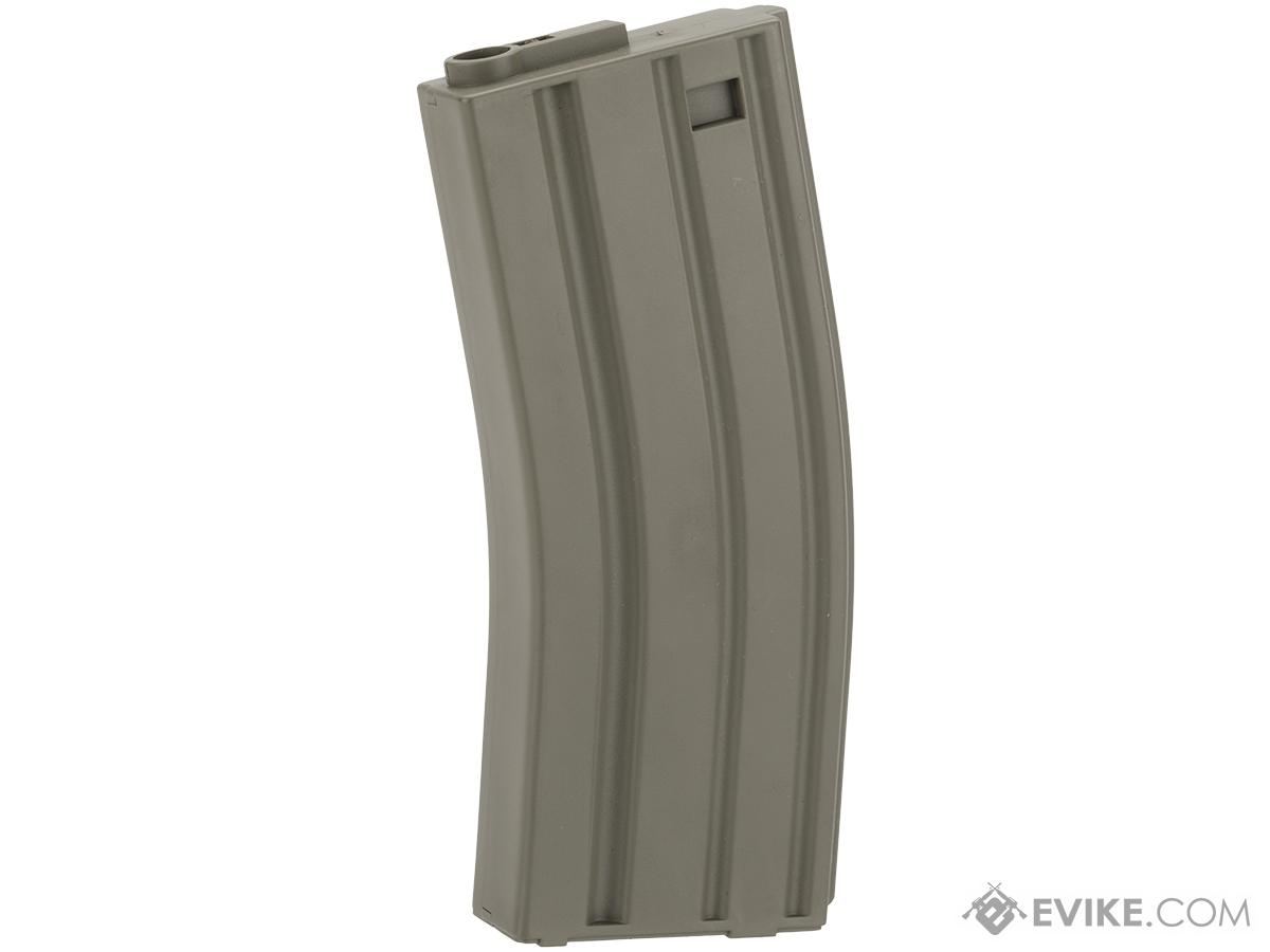 King Arms 120 Round Mid-Cap M4/M16 AEG Magazine (Color: OD Green / Single Magazine)