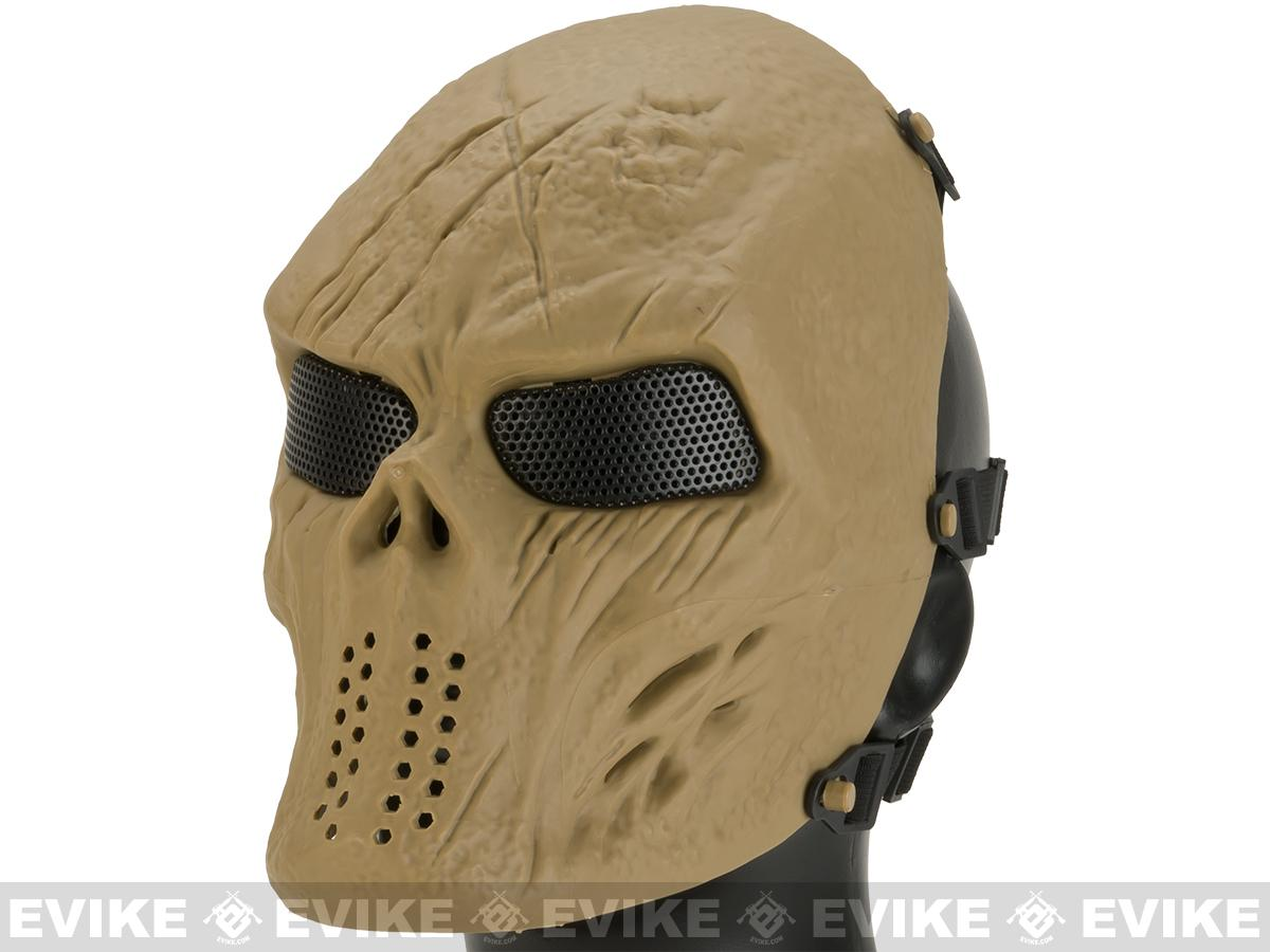 Matrix High Speed Wire Mesh Undead Mask -Tan