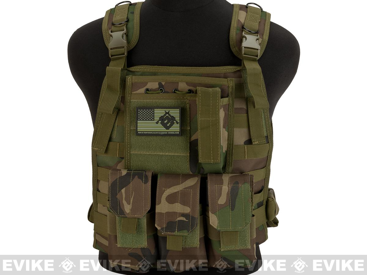Avengers Tactical Spec. OPS MOLLE Plate Carrier / Load Bearing Vest - Woodland
