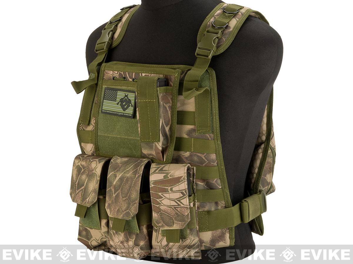 Avengers Tactical Spec. OPS MOLLE Plate Carrier / Load Bearing Vest (Color: Woodland Serpent)