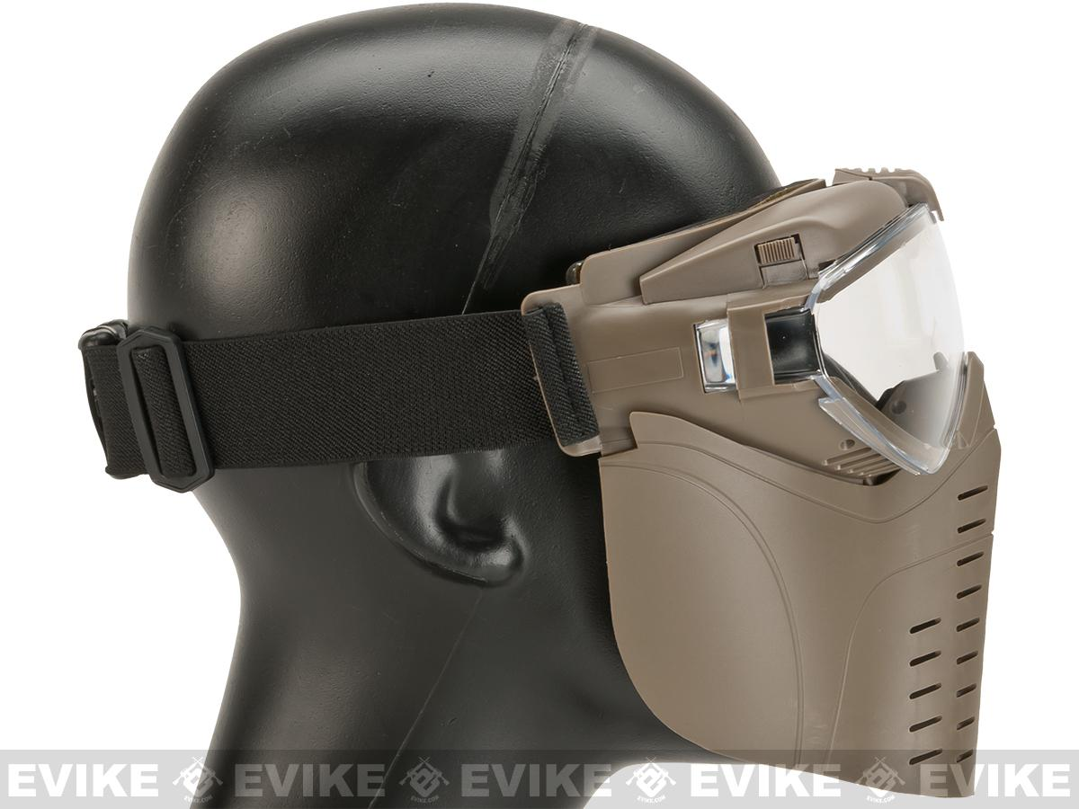 Matrix Pro-Goggle Airsoft Full-Face Mask w/ Integrated Fan (Desert Coyote)
