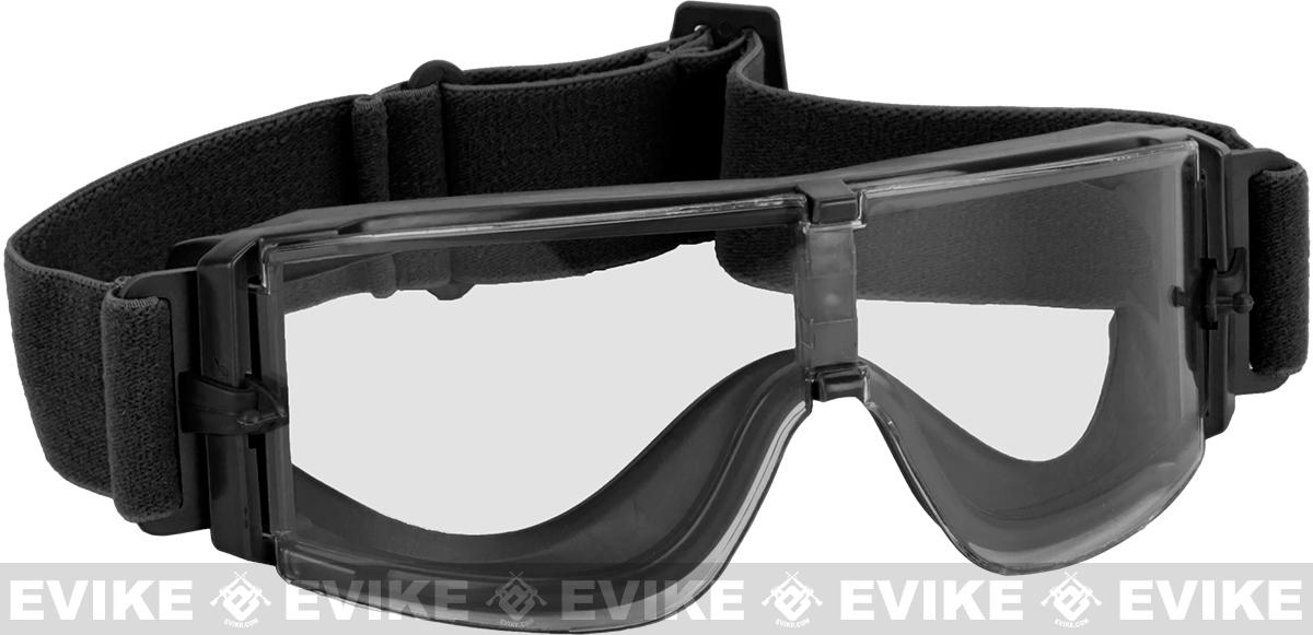 GX-1000 Anti-Fog Tactical Shooting Goggle System w/ CD Kane Strap by Matrix - Black (with Hard Case)