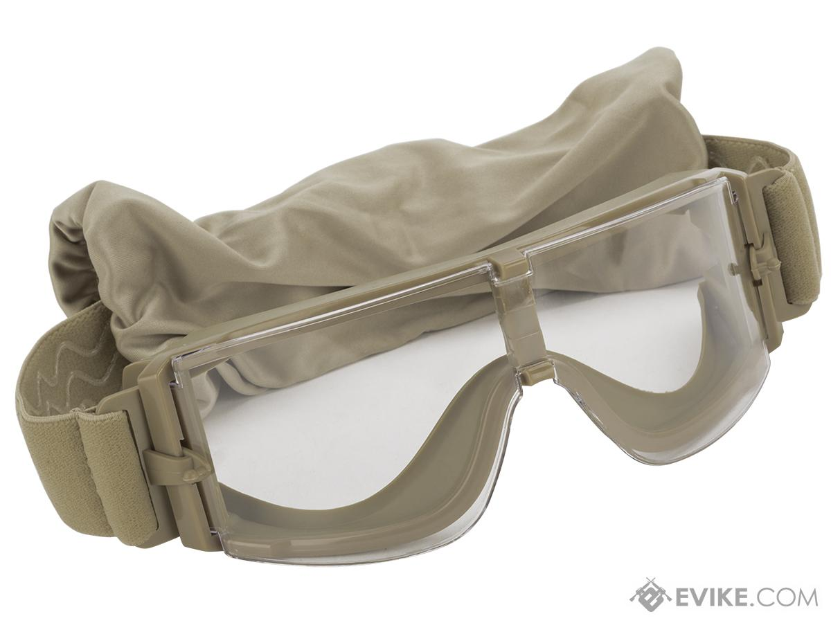 GX-1000 Anti-Fog Tactical Shooting Goggle System w/ CD Kane Strap by Matrix - Desert Tan (with Hard Case)