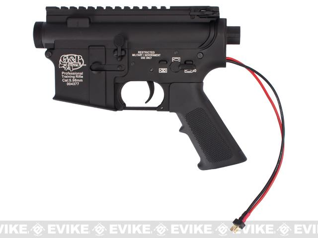 G&P Complete M4 Metal Receiver & Gearbox Airsoft AEG ProKit (G&P USA) Rear Wire / Black