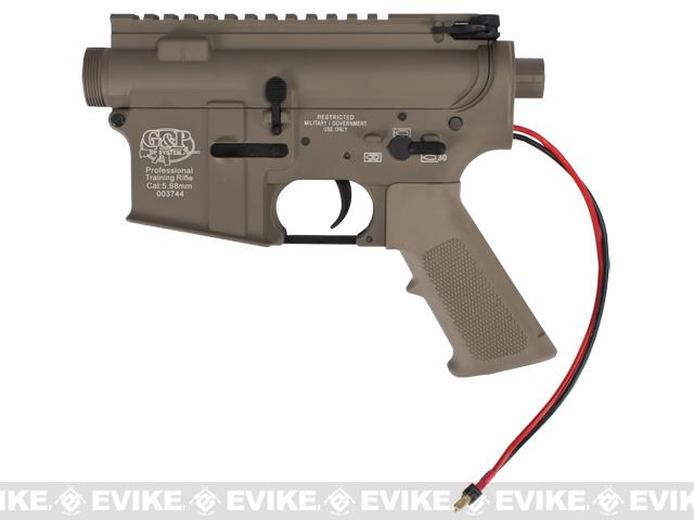 G&P Complete M4 Metal Receiver & Gearbox Airsoft AEG ProKit (G&P USA) Rear Wire / Desert