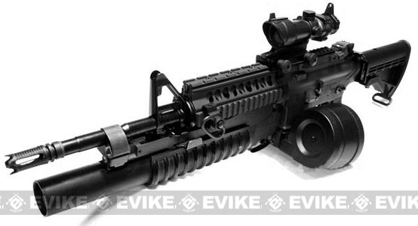 Angel Custom EBONE One-Piece Flat-Top Conversion System for M4 Series Airsoft AEG Rifles