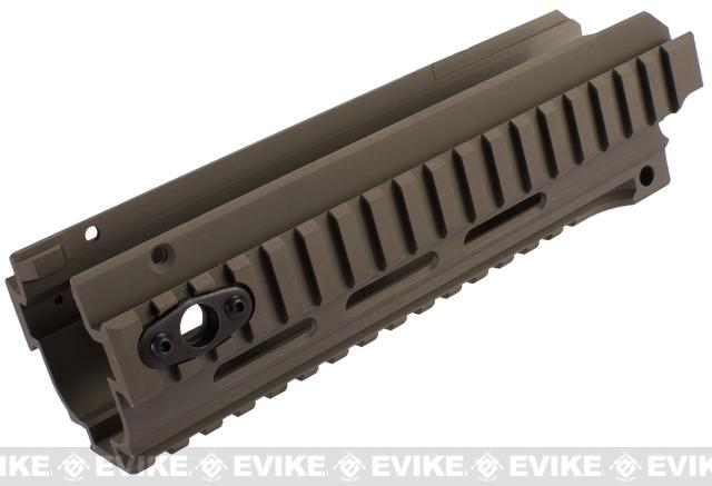 CNC Aluminum CQB RIS Kit for A&K Masada Airsoft AEG Rifles - Dark Earth