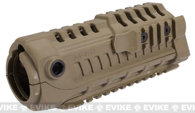 Avengers M4-S1 Handguard for M4 Series Airsoft AEG Rifles - Dark Earth