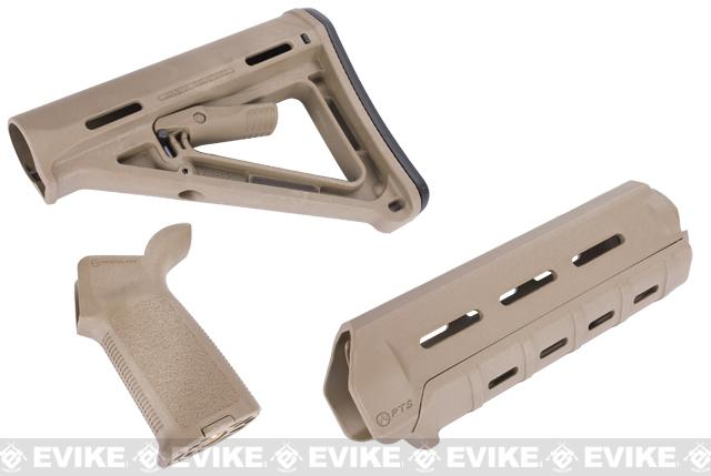 z Magpul PTS MOE Conversion Kit for M4 Series Airsoft AEGs - (Dark Earth)