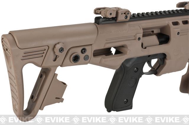 Evike Custom CAA Airsoft Roni M9 Carbine Airsoft GBB Pistol - Dark Earth