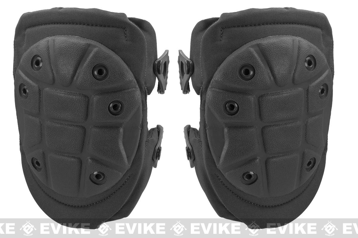King Arms Warrior Advanced Tactical QD Knee Pads (Color: Black)