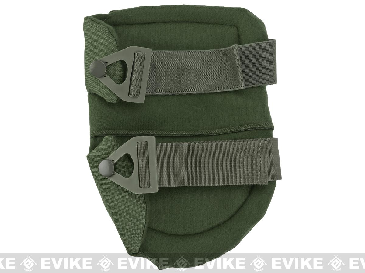 King Arms Warrior Advanced Tactical QD Knee Pads (Color: Military OD Green)
