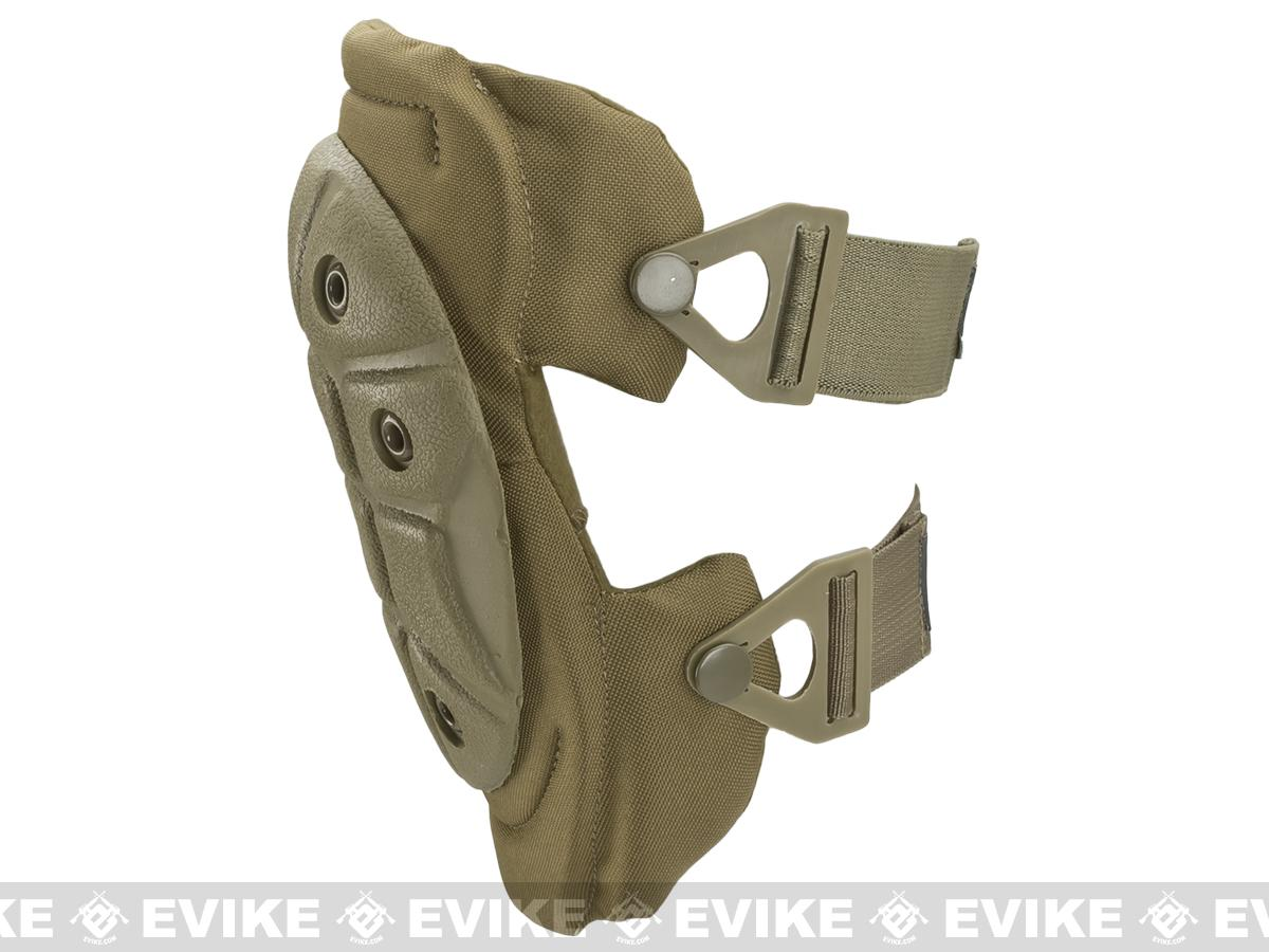 King Arms Warrior Advanced Tactical QD Knee Pads (Color: Desert Tan)