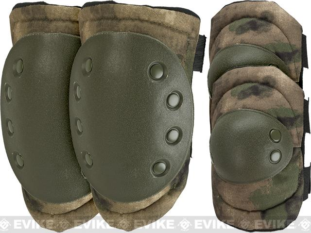 Avengers Special Operation Tactical Knee Pad / Elbow Pad Set (Color: Arid Foliage)
