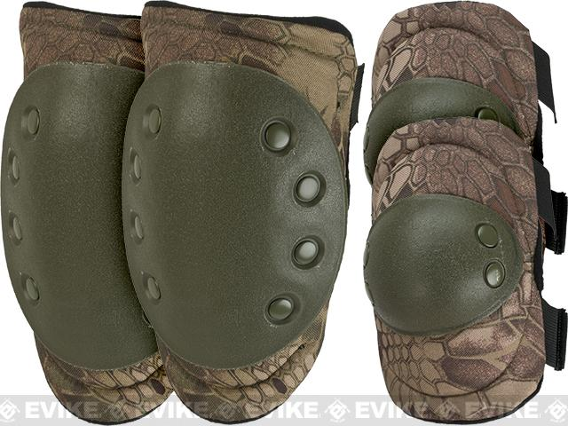 Avengers Special Operation Tactical Knee Pad / Elbow Pad Set (Color: Woodland Serpent)