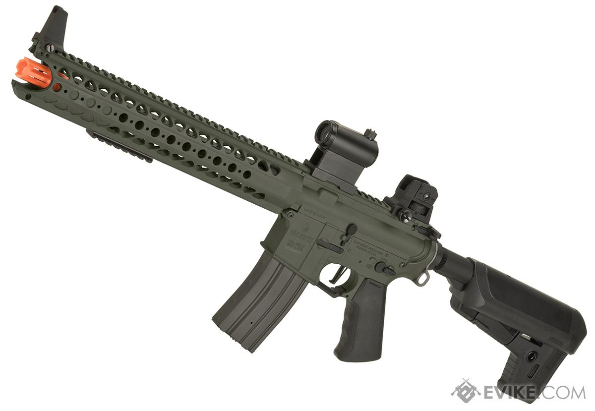 Krytac War Sport Licensed LVOA-S M4 Carbine Airsoft AEG Rifle - Foliage Green