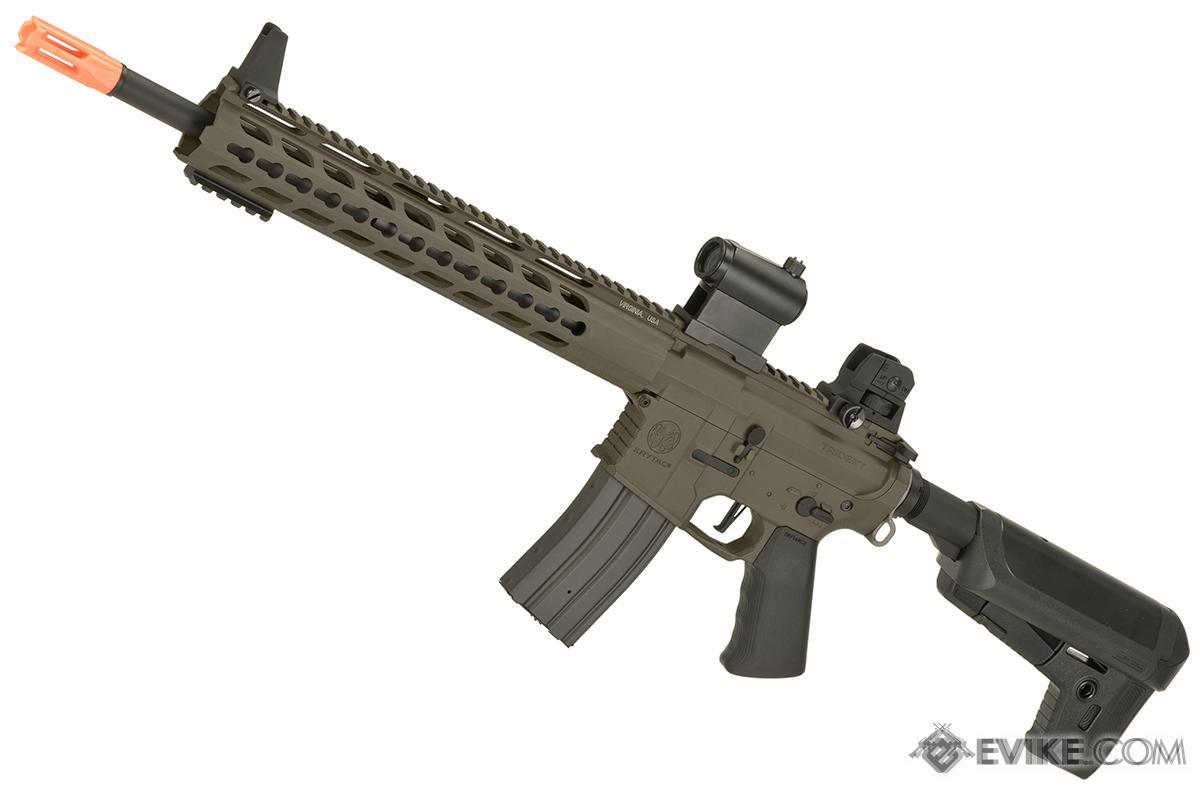Pre-Order ETA September 2017 Krytac Full Metal Trident MK2 SPR Airsoft AEG Rifle (Color: Flat Dark Earth)