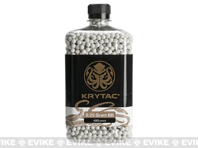 Krytac 0.25g Polished 6mm Airsoft BBs - 4000 / White