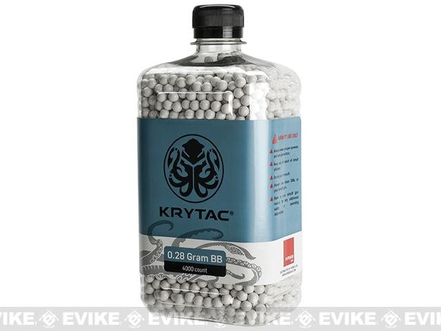 Krytac 0.28g Polished 6mm Airsoft BBs - 4000 / White