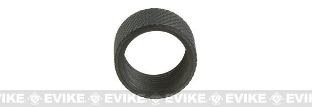 Vaultac CNC Cut Knurled Thread Protector Cap - Black (14mm Negative/Short Length 10mm)
