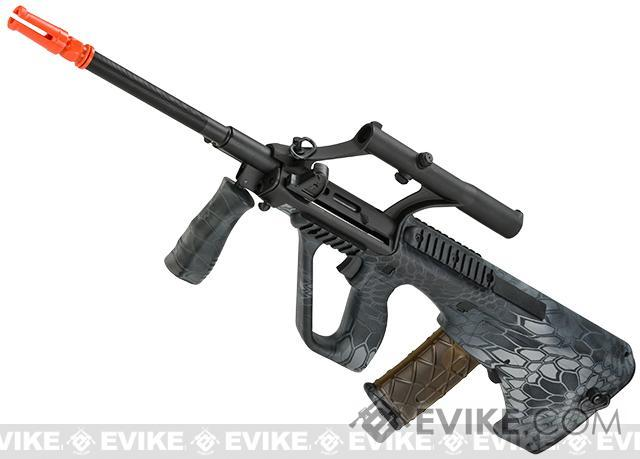 Bone Yard - APS Newest Generation Kompetitor Advanced AUG KU MIL Airsoft AEG Rifle - Random Camo Color (Store Display, Non-Working Or Refurbished Models)
