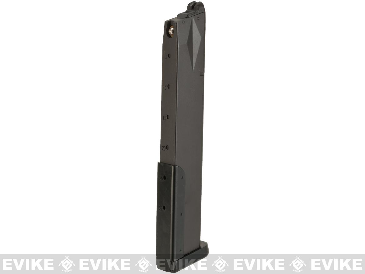 KWA Full Metal 50 Round Magazine for KWA M93R Airsoft Gas Blowback Pistol