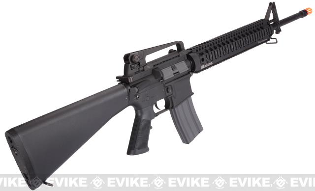 Evike Class I Custom KWA KM16 Airsoft AEG Rifle - Daniel Defense Omega RIS 12 / Black