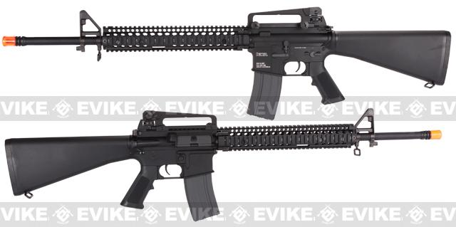 Evike Custom KWA KM16 Airsoft AEG Rifle - Daniel Defense RISII 12 / Black
