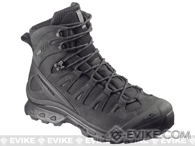 Salomon Quest 4D GTX® Forces Tactical Boots - Black / Asphalt (Size: 9)