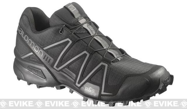 Salomon SpeedCross 3 Forces Running Shoes - Black / Black / Autobahn (Size: 10)