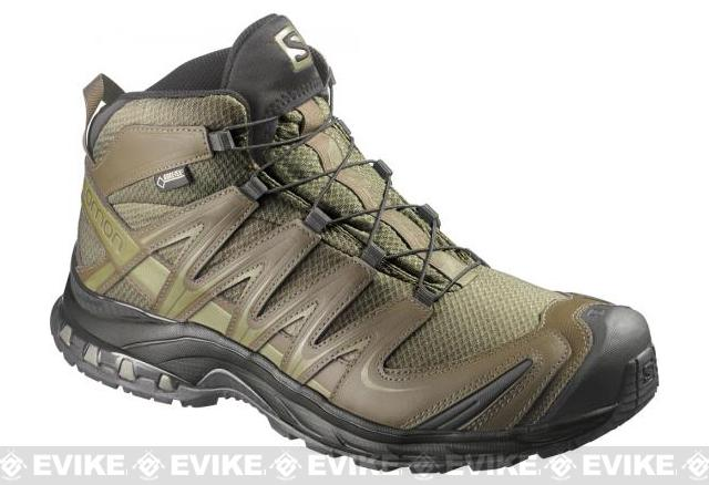 Salomon XA Pro 3D MID GTX Forces 2 Tactical Boots - Iguana Green / Dark Khaki / Iguana Green (Size: 9)