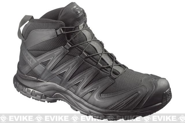 Salomon XA Pro 3D MID Forces Tactical Boots - Black / Black / Asphalt (Size: 13)