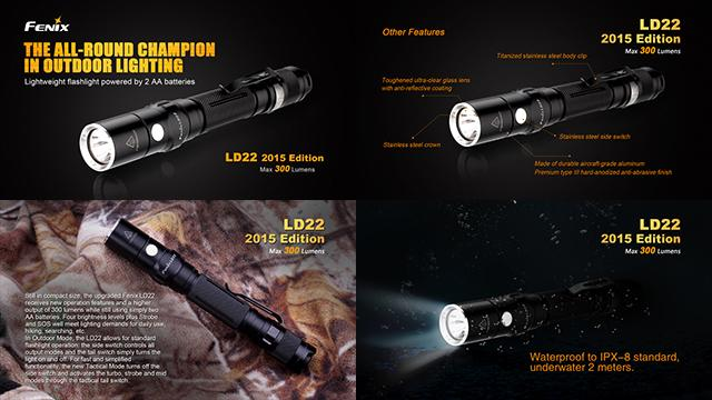 Fenix LD22 CREE XP-G2 LED Flashlight (300 Lumen)