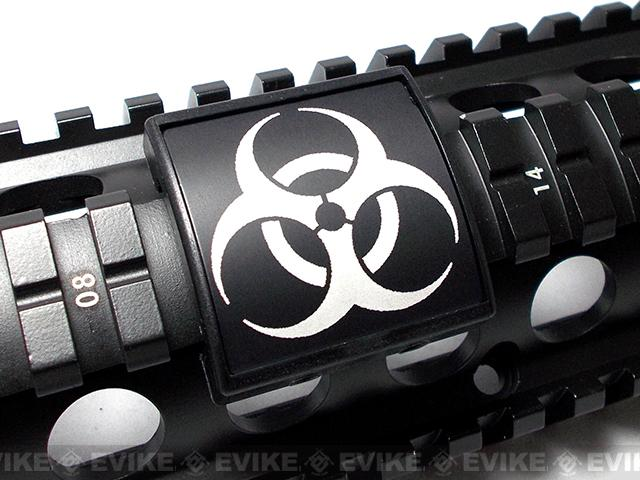 Custom Gun Rails (CGR) Small Laser Engraved Aluminum Rail Cover - BIOHAZARD