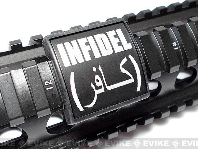 Custom Gun Rails (CGR) Small Laser Engraved Aluminum Rail Cover - Infidel
